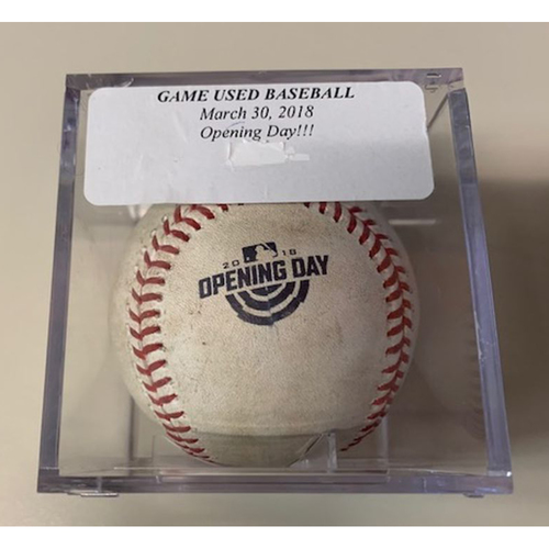 Photo of Game-Used Baseball: 2018 Opening Day