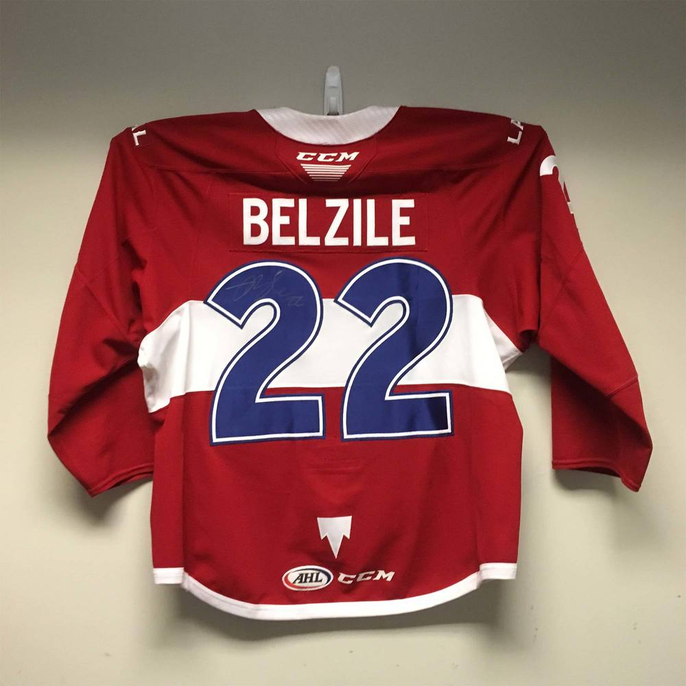 2019 Lexus AHL All-Star Skills Competition Jersey Worn and Signed by #22 Alex Belzile