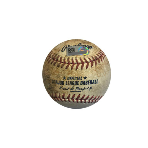 Photo of Game-used Baseball: 8/23/2016 Musgrove vs. McCutchen, Double, RBI