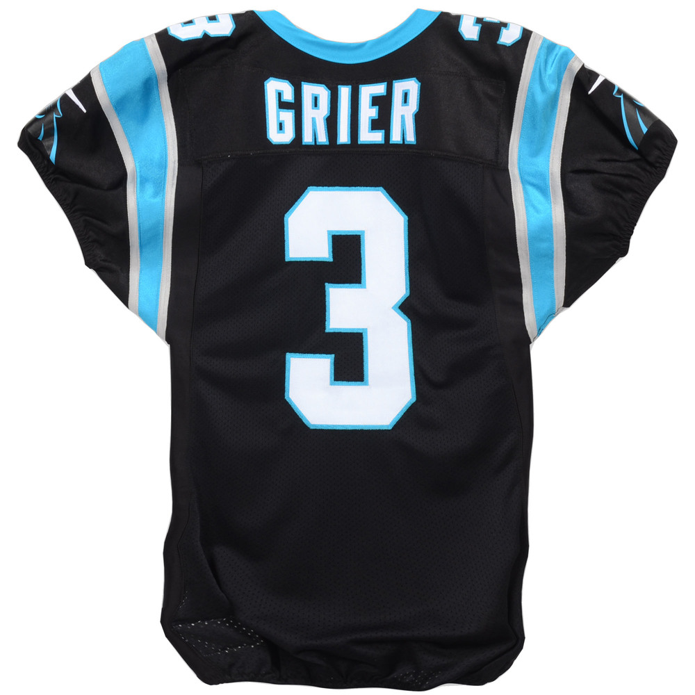 Will Grier Carolina Panthers Event-Worn 2019 NFLPA Rookie Premiere #3 Jersey