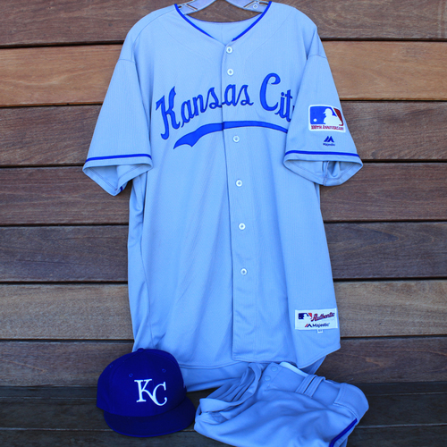 Photo of Game-Used 1969 Throwback Jersey, Pants and Cap: Cam Gallagher 36th Career Hit (Jersey Size 48 - KC @ WSH  - 7/6/19)
