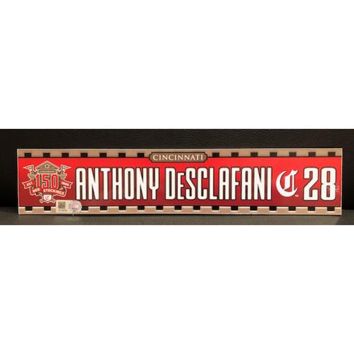 Photo of Anthony DeSclafani -- Game-Used 2019 Regular Season Locker Tag