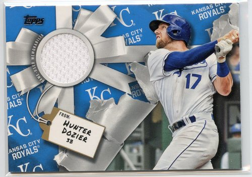 Photo of 2019 Topps Walmart Holiday Relics #WHRHD Hunter Dozier