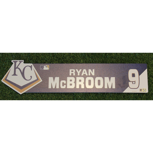 Photo of Game-Used Locker Nameplate: Ryan McBroom (ATL @ KC - 9/25/19)