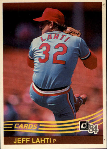 Photo of 1984 Donruss #327 Jeff Lahti
