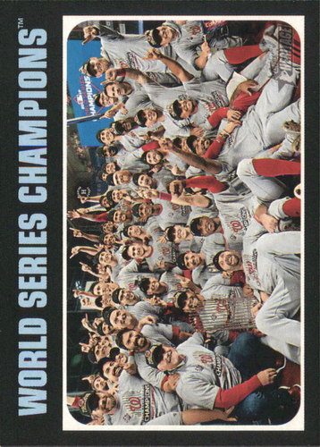 Photo of 2020 Topps Heritage #1 Washington Nationals WS Champs