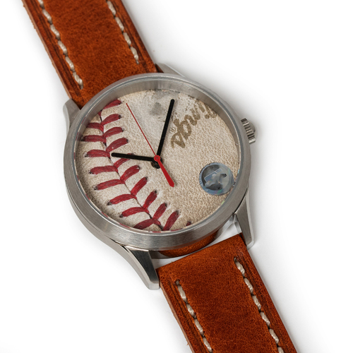 Photo of Tokens & Icons Boston Red Sox 2013 World Series Game Used Baseball Watch W/ Marks - Game 4