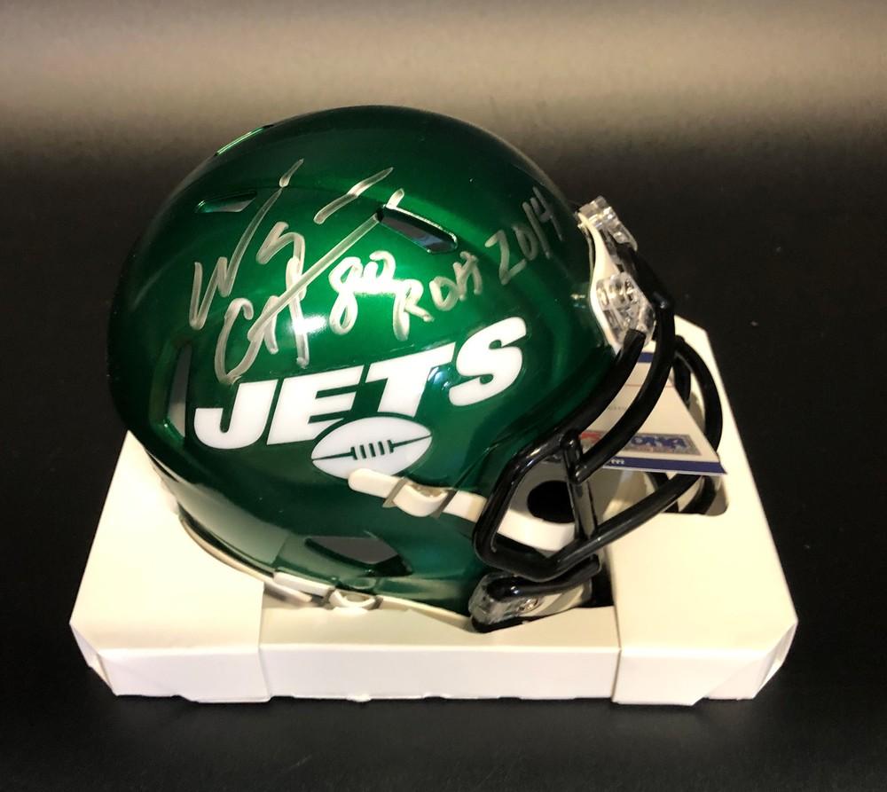 PCC-Jets Wayne Chrebet Signed Mini-Helmet (benefitting the Marty Lyons Foundation)