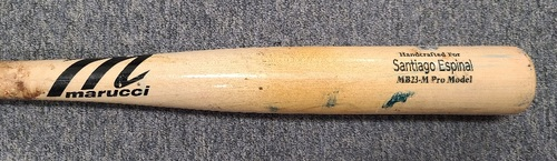 Photo of Authenticated Team Issued Cracked Bat: Santiago Espinal (Sep 25, 2020 vs BAL)