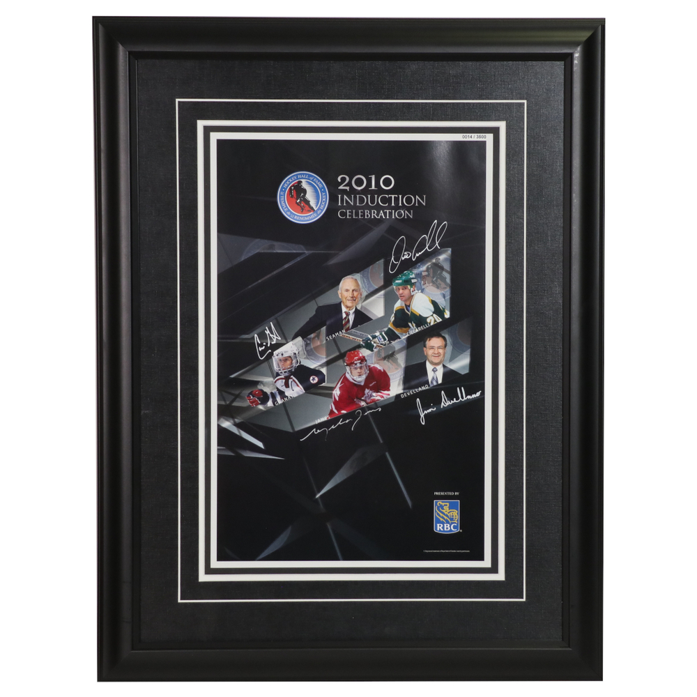 James, Granato, Ciccarelli, Devellano, Seaman - Class of 2010 Induction Signed Framed Poster - Limited Edition