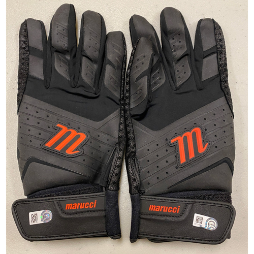 Photo of 2020 Cyber Monday Sale - #28 Buster Posey Team Issued Black & Orange Marucci Batting Gloves