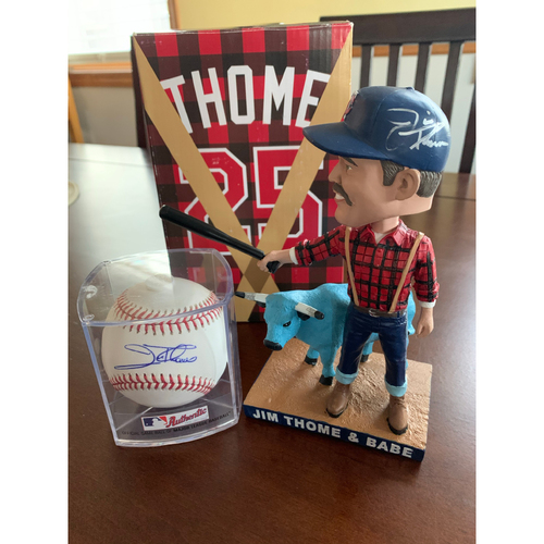 Photo of Jim Thome Bobblehead and Baseball