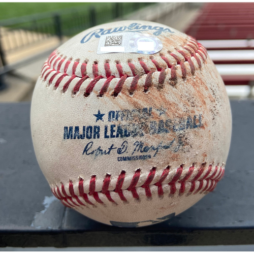 Photo of Cardinals Authentics: Game Used Baseball Pitched by Adam Wainwright to Christian Yelich and Avisail Garcia *Yelich Strike out, Garcia Ball* *Win Streak 17*