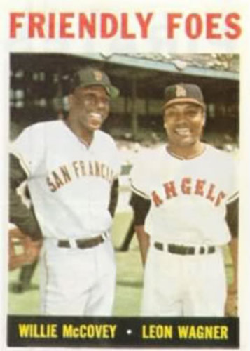 Photo of 1964 Topps #41 Friendly Foes/Willie McCovey/Leon Wagner