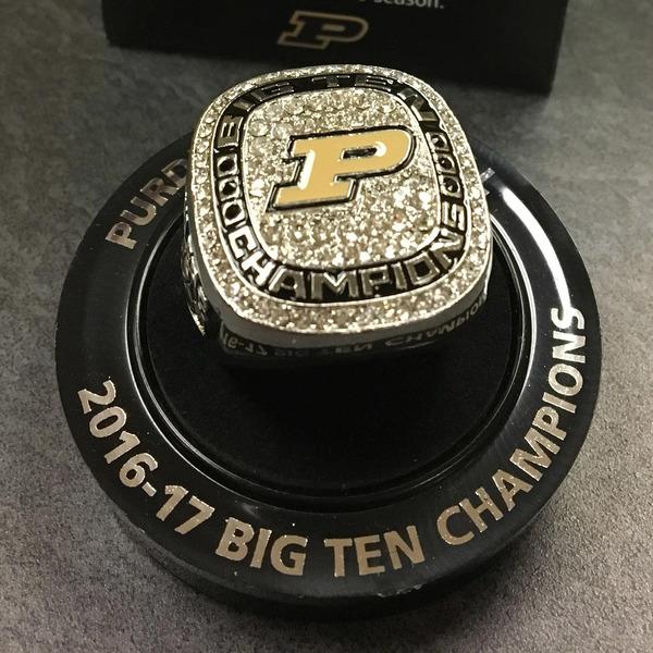 Photo of Purdue Men's Basketball 2016-17 Replica Big Ten Championship Ring (A)