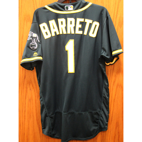 Photo of 2017 Franklin Barreto Game-Used Jersey