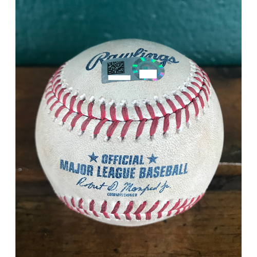 Photo of Cardinals Authentics: Game-Used Baseball Pitched by Jordan Hicks to Hunter Dozier *Foul 100.5 MPH*