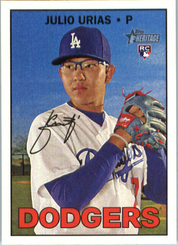 Photo of 2016 Topps Heritage #600A Julio Urias Rookie Card