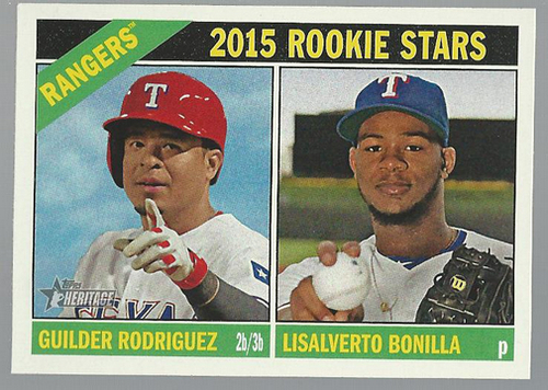 Photo of 2015 Topps Heritage #146 Guilder Rodriguez RC/Lisalverto Bonilla RC