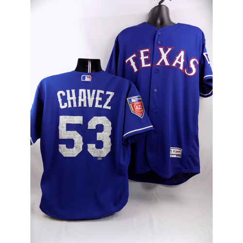 Photo of Blue Game-Used Spring Training Jersey - Jesse Chavez