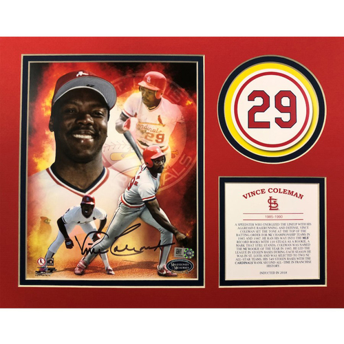 Photo of Cardinals Authentics: St. Louis Cardinals Autographed Vince Coleman HOF Matte