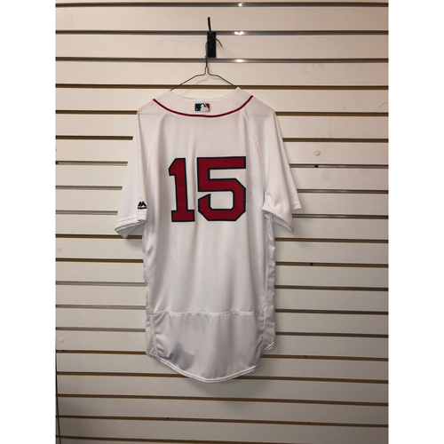 Photo of Dustin Pedroia Team-Issued 2016 Home Jersey