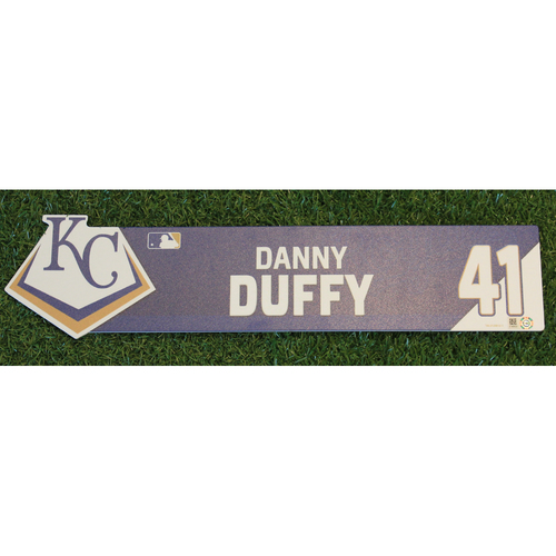 Photo of Game-Used Locker Nameplate: Danny Duffy (CWS @ KC - 7/16/19)