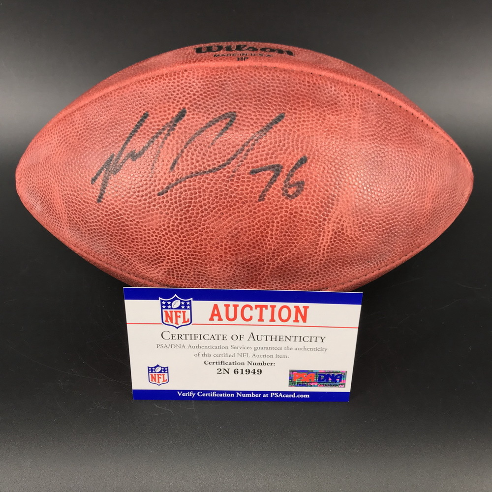 PCF - Packers Mike Daniels Signed Authentic Football with Crucial Catch and Packers Logo