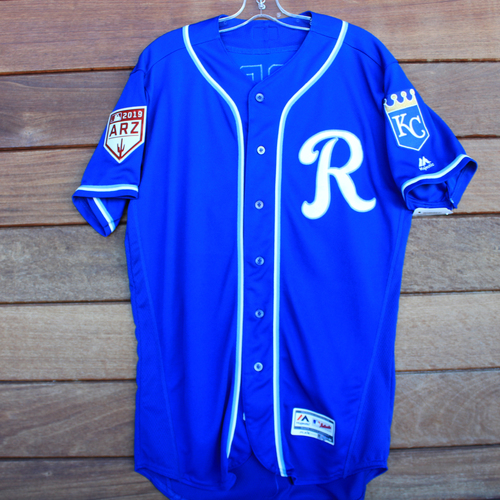 Photo of Game-Used Jersey: Jecksson Flores (Size 44 KC vs COL 2/25/19)