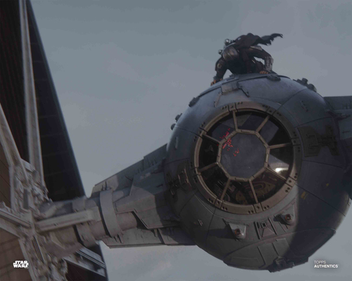 The Mandalorian and Moff Gideon's TIE Fighter