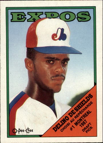 Photo of 1988 O-Pee-Chee #88 Delino DeShields XRC/Expos' first/draft choice