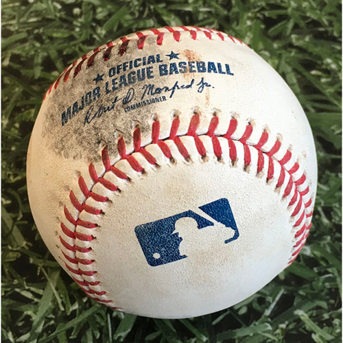 Photo of Game-Used Baseball CHC@MIL 09/12/20 - Josh Hader - Jason Heyward: Go-Ahead, 3-Run HR (6)