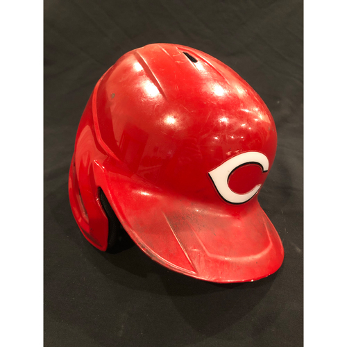 Photo of Mike Moustakas -- 2020 Game-Used Helmet -- Worn for Reds Playoff Clinch on Sept. 25 @ Twins -- Helmet Scheduled to Arrive Prior to Dec 24