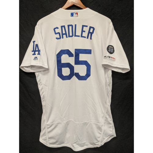 Photo of Casey Sadler Game-Used Home Jersey, Last Home Game of 2019