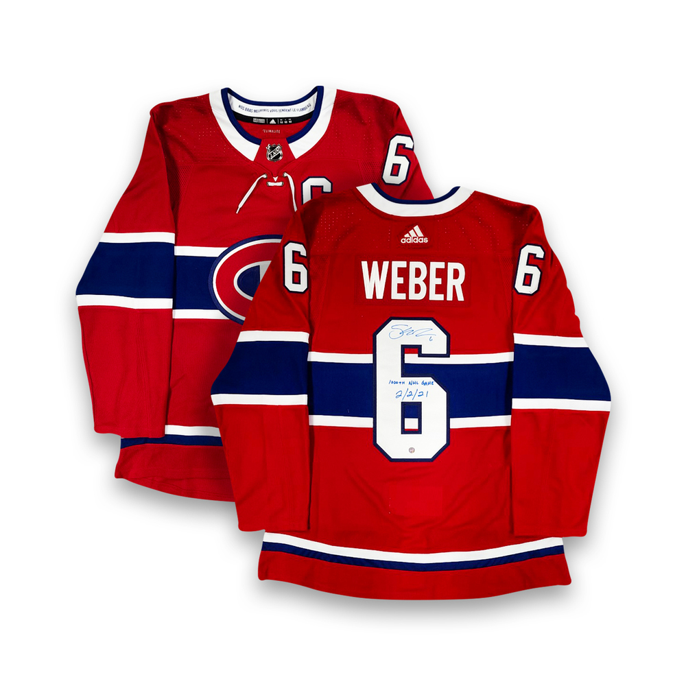 Shea Weber Signed Montreal Canadiens Red Adidas Pro Jersey with