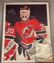 Photo of Martin Brodeur Signed Lithograph 24/100