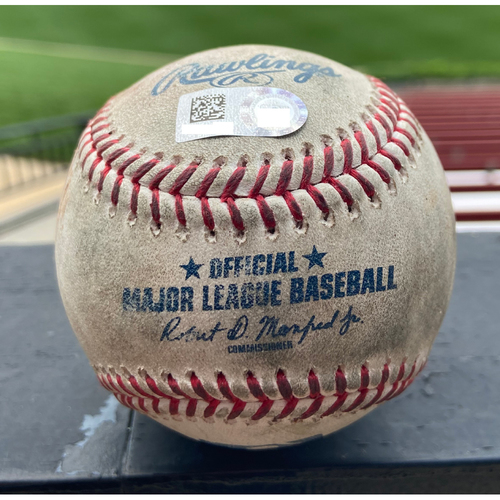Photo of Cardinals Authentics: Game Used Baseball Pitched by Giovanny Gallegos to Tyrone Taylor and Jackie Bradley Jr. *Taylor Single, Bradley Ball in Dirt* *Win Streak 17*