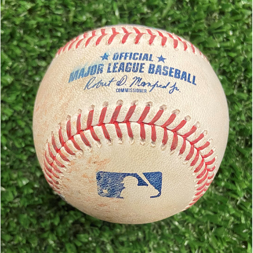 Photo of Game Used Baseball - Pitcher: Aaron Ashby, Batter: Joc Pederson (Ground Out) - 10/12/21- NLDS Game 4, Braves Win NLDS