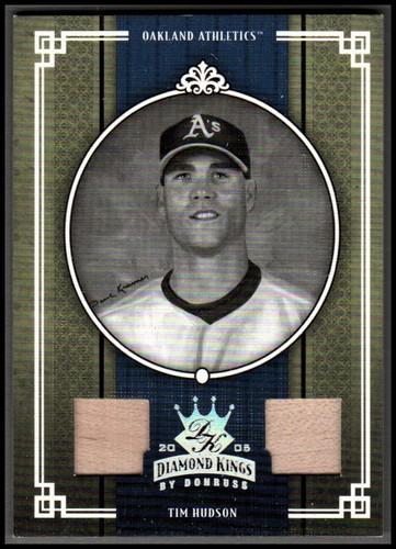 Photo of 2005 Diamond Kings Materials Silver B/W #165 Tim Hudson Bat-Bat/100