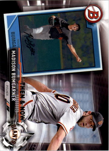 Photo of 2017 Topps Bowman Then and Now #BOWMAN5 Madison Bumgarner