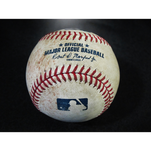 Photo of Game Used Baseball: Jose Altuve Single off Nick Vincent. SEA-HOU 4/18/2018