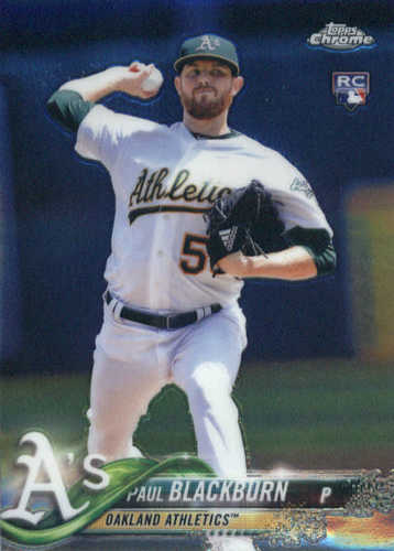 Photo of 2018 Topps Chrome #158 Paul Blackburn RC