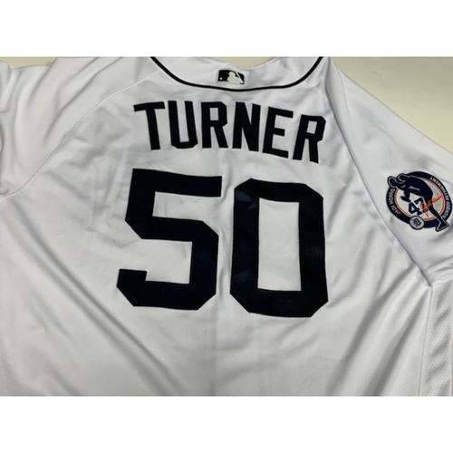 Photo of Team-Issued Jake Morris Number Retirement Day Jersey: Jacob Turner