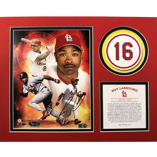 Photo of Cardinals Authentics: St. Louis Cardinals Autographed Ray Lankford HOF Matte