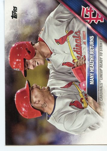 Photo of 2016 Topps #492 Yadier Molina/Randal Grichuk/Many Healthy Returns