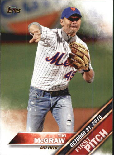 Photo of 2016 Topps First Pitch #FP1 Tim McGraw S2