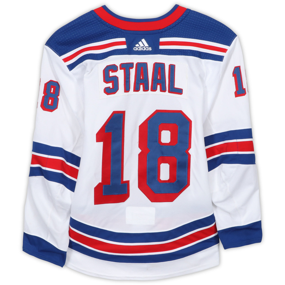 Marc Staal New York Rangers Game-Used #18 White Set 1 Jersey with