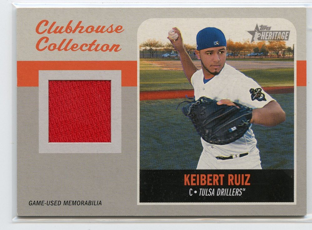 2019 Topps Heritage Minors Clubhouse Collection Relics #CCRKR Keibert Ruiz