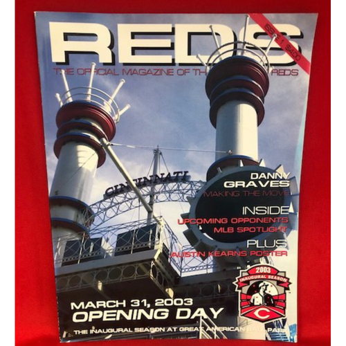 Photo of 2003 Opening Day Program at Great American Ball Park