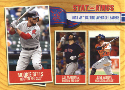 Photo of 2019 Topps Big League Gold #359 Jose Altuve/J.D. Martinez/Mookie Betts